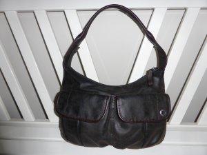 ESPRIT Tasche im Vintagelederlook