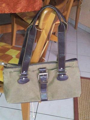 Esprit Tasche schlamm khaki oliv Leder imitat