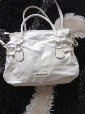 Esprit Tasche weiß mit vielen Details