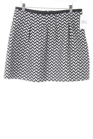 Esprit Falda circular negro-blanco estampado gráfico look Street-Style