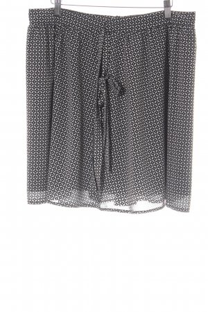 Esprit Circle Skirt black-natural white graphic pattern simple style