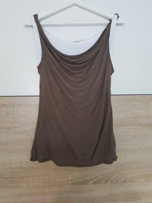 Esprit Top tipo cascada blanco-marrón claro