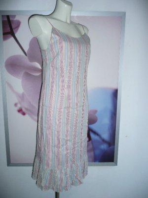 Esprit Träger Kleid Dress m Volant u feinen Streifen 36-38
