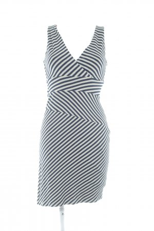 Esprit Trägerkleid beige-dunkelblau Streifenmuster Casual-Look
