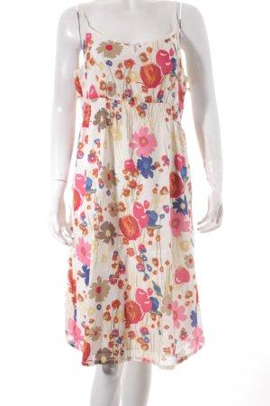 Esprit Trägerkleid creme-pink florales Muster Casual-Look