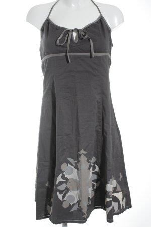 Esprit Trägerkleid dunkelgrau-hellbraun florales Muster Casual-Look