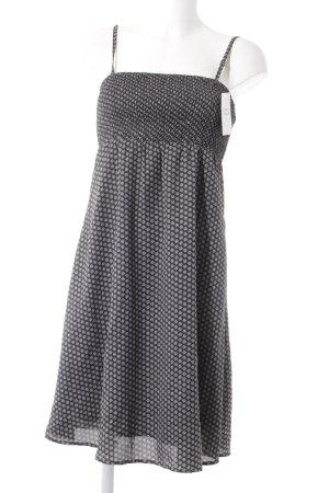 Esprit Trägerkleid dunkelgrau-weiß Sternenmuster Casual-Look