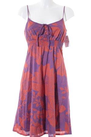 Esprit Trägerkleid dunkelorange-lila florales Muster Beach-Look