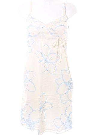 Esprit Trägerkleid hellbeige-kornblumenblau Blumenmuster Casual-Look