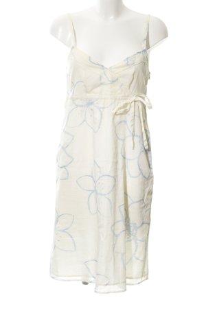 Esprit Trägerkleid hellgelb-himmelblau Blumenmuster Casual-Look