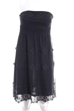 Esprit Trägerkleid schwarz Blumenmuster Elegant