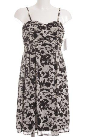Esprit Trägerkleid schwarz-weiß florales Muster Beach-Look