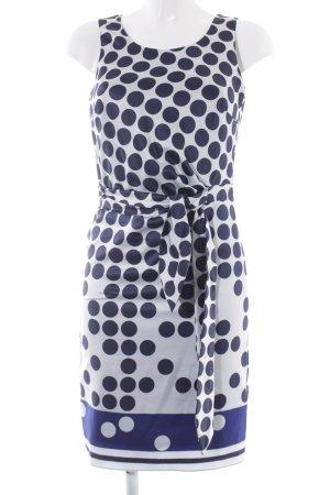 Esprit Trägerkleid weiß-dunkelblau Punktemuster Casual-Look