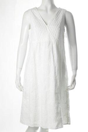 Esprit Trägerkleid weiß florales Muster Romantik-Look