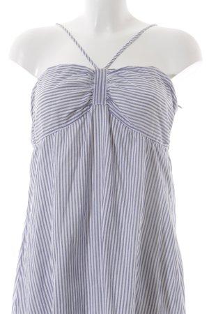 Esprit Trägerkleid weiß-graublau Streifenmuster Beach-Look