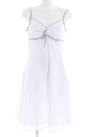 Esprit Trägerkleid weiß-hellgrau Casual-Look