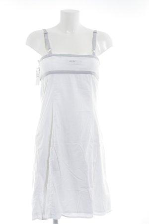 Esprit Trägerkleid weiß-hellgrau schlichter Stil