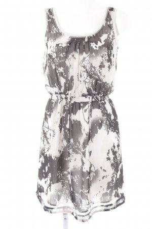 Esprit Trägerkleid weiß-schwarz Farbtupfermuster Casual-Look