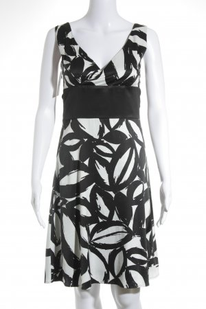 Esprit Pinafore dress white-black graphic pattern elegant