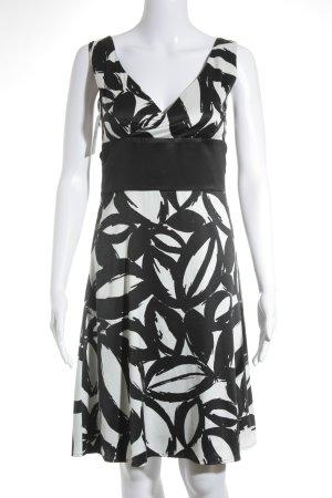 Esprit Trägerkleid weiß-schwarz grafisches Muster Elegant