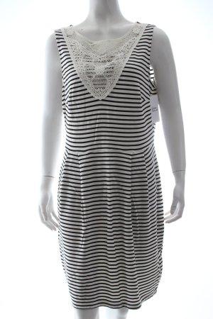 Esprit Trägerkleid weiß-schwarz Streifenmuster klassischer Stil