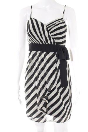 Esprit Trägerkleid wollweiß-schwarz Streifenmuster Casual-Look