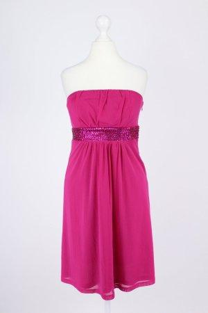 Esprit trägerloses Kleid pink Größe S