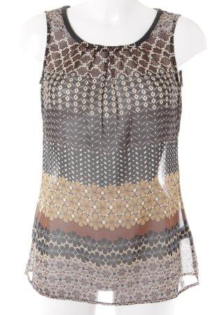Esprit Transparenz-Bluse Aztekenmuster Casual-Look