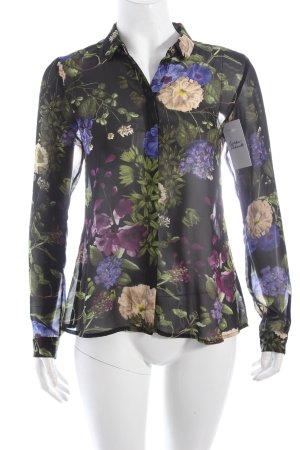 Esprit Transparenz-Bluse Blumenmuster
