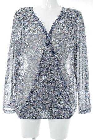 Esprit Transparenz-Bluse Blumenmuster Casual-Look
