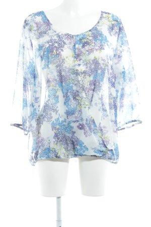 Esprit Transparenz-Bluse Blumenmuster Romantik-Look