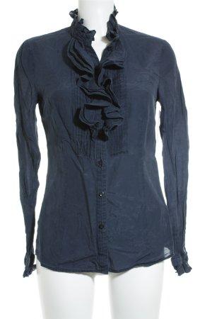 Esprit Transparenz-Bluse dunkelblau Casual-Look