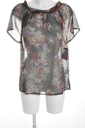 Esprit Transparenz-Bluse florales Muster Gypsy-Look