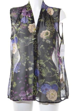 Esprit Transparenz-Bluse florales Muster klassischer Stil