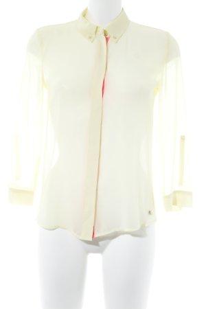 Esprit Transparenz-Bluse hellgelb-pink Street-Fashion-Look