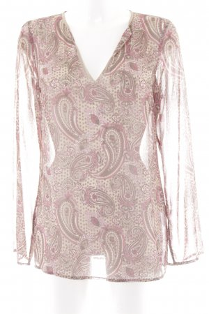 Esprit Transparenz-Bluse Paisleymuster Casual-Look
