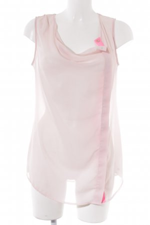 Esprit Transparante blouse rosé-neonroos casual uitstraling