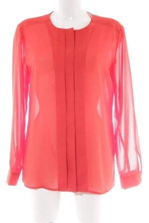 Esprit Transparante blouse rood romantische stijl