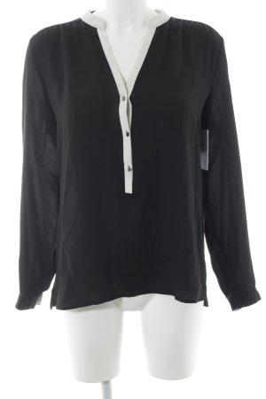 Esprit Transparenz-Bluse schwarz-weiß Elegant