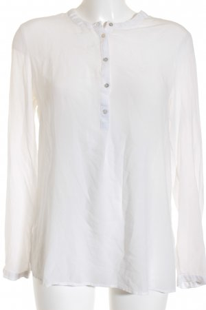 Esprit Transparenz-Bluse weiß Transparenz-Optik