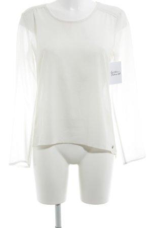 Esprit Transparenz-Bluse wollweiß Casual-Look