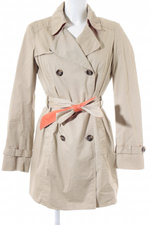 Esprit Trenchcoat beige-neonorange Brit-Look