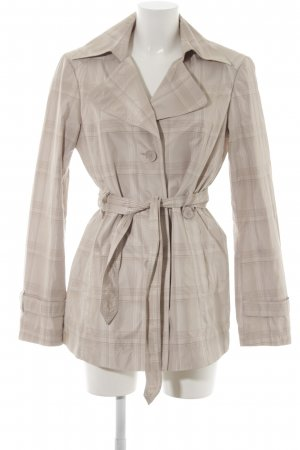 Esprit Trenchcoat creme Karomuster Business-Look