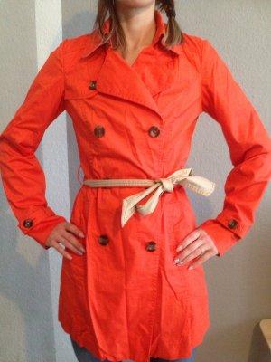 Esprit Trenchcoat *NEU* perfekter Begleiter für das schöne Frühlingswetter ungetragen Gr.36 Orange/Rot