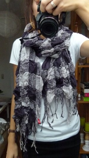 Esprit Neckerchief dark violet-white cotton