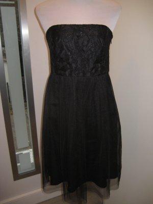 Esprit Tüll Spitzen  Kleid schwarz Gr.38