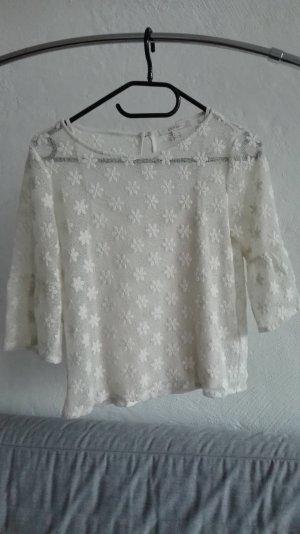 Esprit Camisa de ganchillo blanco-blanco puro