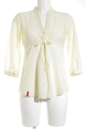 Esprit Tunikabluse gelb-weiß Streifenmuster klassischer Stil