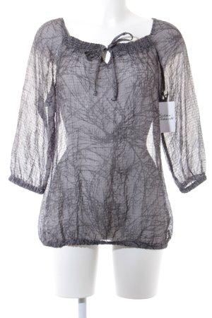 Esprit Tunikabluse grau-dunkelgrau Farbverlauf Gypsy-Look