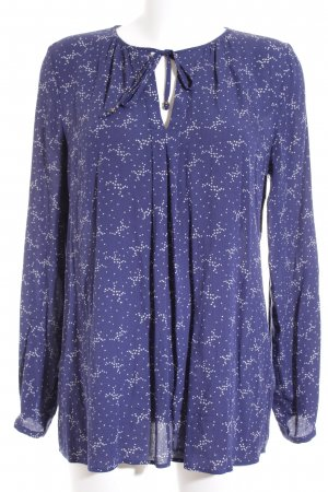 Esprit Tunikabluse weiß-dunkelblau Sternenmuster Casual-Look